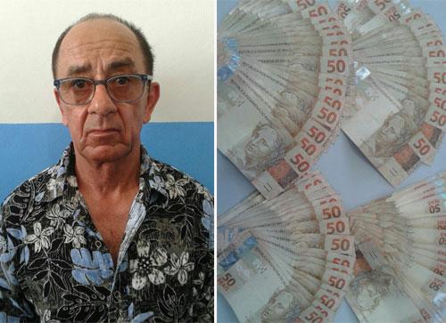 Procurado por estelionato, homem é preso com 4 mil reais