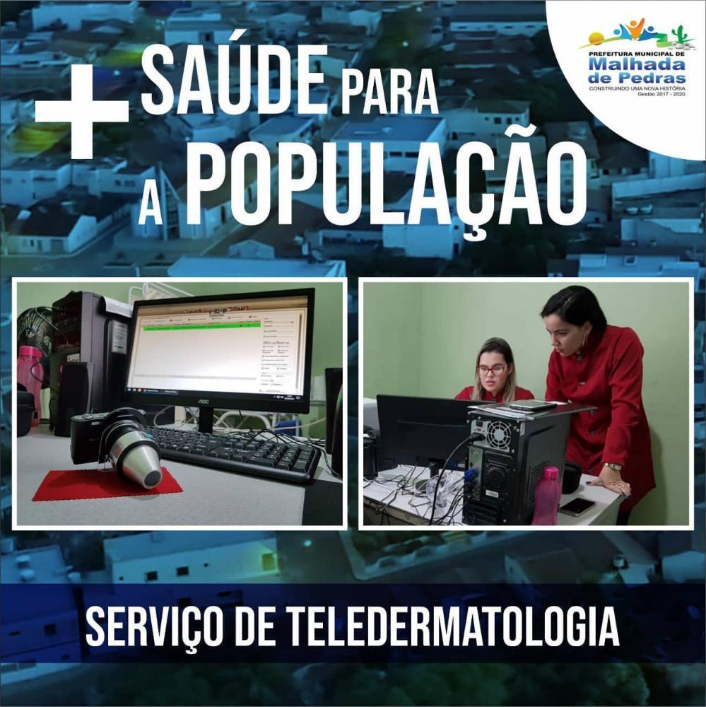 Centro de Saúde de Malhada de Pedras segue  desenvolvendo  o serviço de Teledermatologia