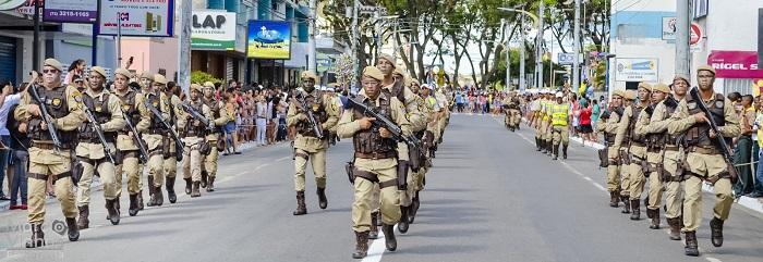 PM comemora 7 de setembro com 1.630 policiais militares