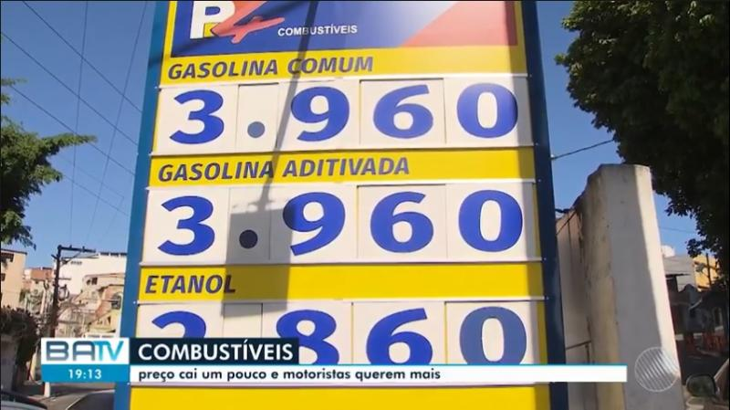 Preço da gasolina já chega a R$ 3,96 em Salvador, enquanto é vendida quase 1 real mais cara em Brumado