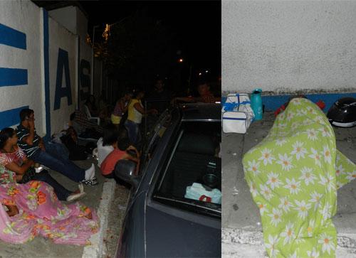Pais passam a noite em frente a escola pública para conseguir vagas
