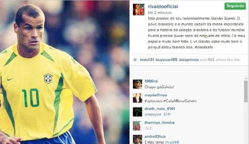 """Rivaldo manda recado para Galvão Bueno: """"Não preciso do seu reconhecimento"""""""