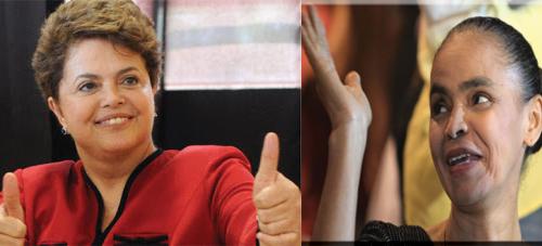 Dilma fica com maior parte dos votos se Marina desistir