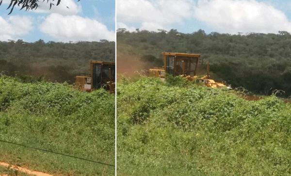 Rio do Antônio: 'Suposto local de construção Posto de Combustível é limpado com máquina da prefeitura, enquanto estradas vicinais estão precárias' denuncia rio-antoniense