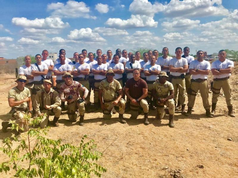 Major Adriano Souza Dias promove curso de soldados em seu novo comando na Cipe Caatinga