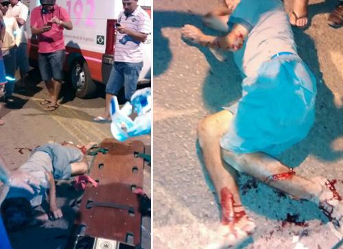 Acidente entre motociclistas deixa dois feridos
