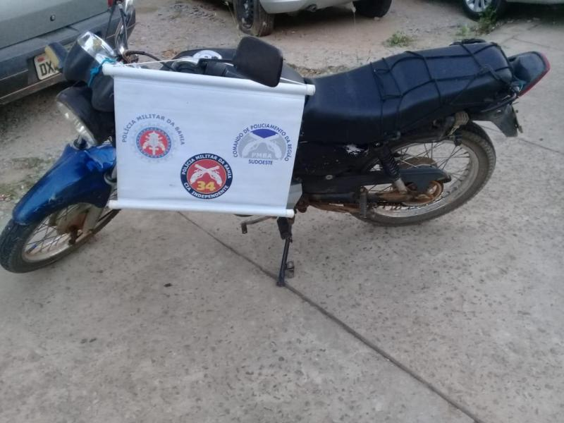Brumado: Polícia Militar apreende motocicleta com placa falsa e chassi suprimido