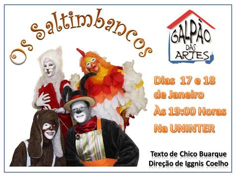 O Grupo Arte em Cena apresentará Os Saltimbancos em Brumado