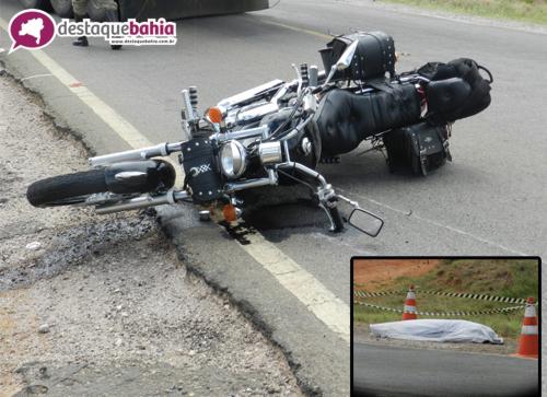 Acidente com vitima fatal na BA-030 sentido Brumado Caetité, próximo a Vila Presidente Vargas
