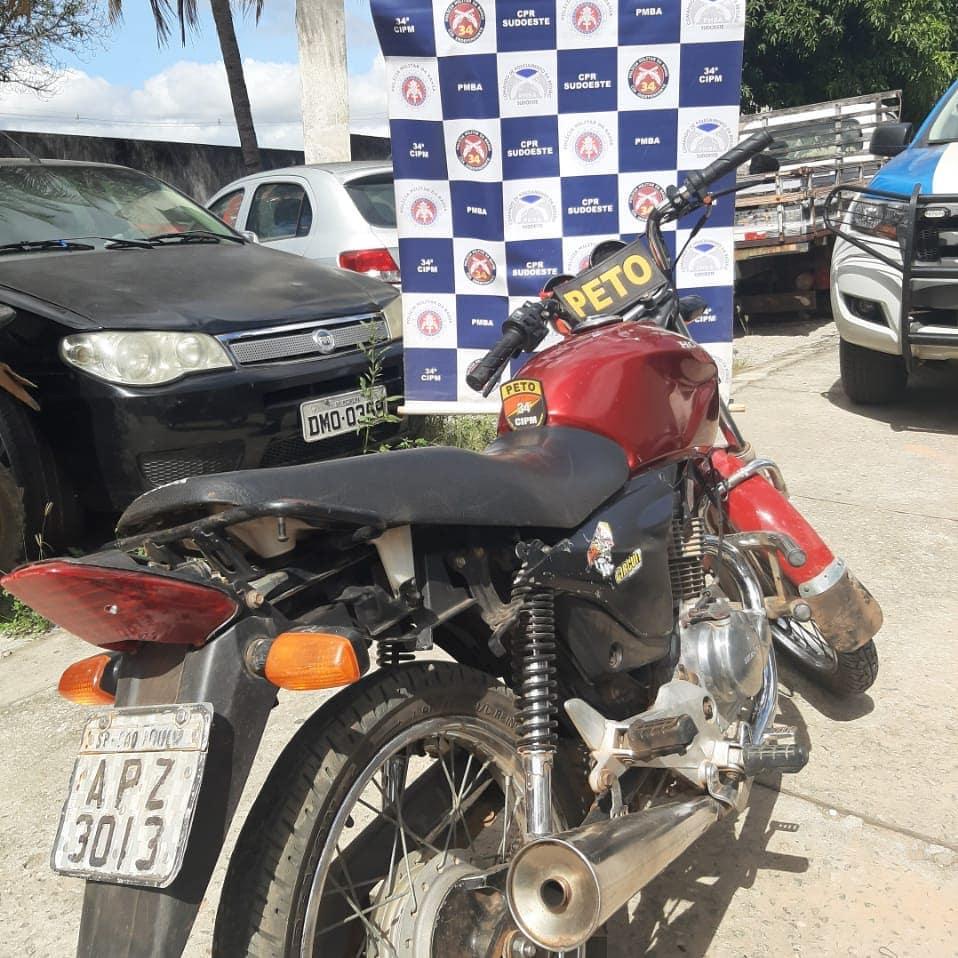 Brumado: Polícia Militar localiza na Vila Presidente Vargas moto com restrição de roubo/furto