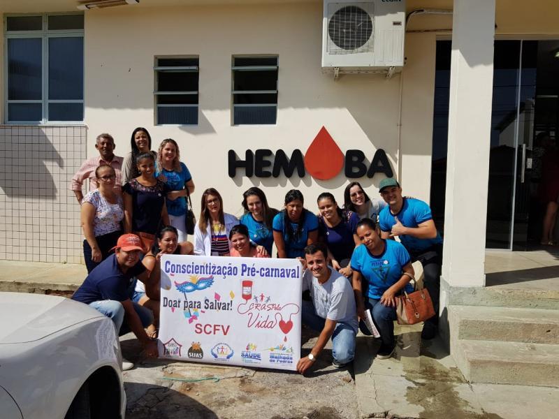 Cras de Malhada de Pedras realiza doação de Sangue coletiva em campanha pré-carnaval