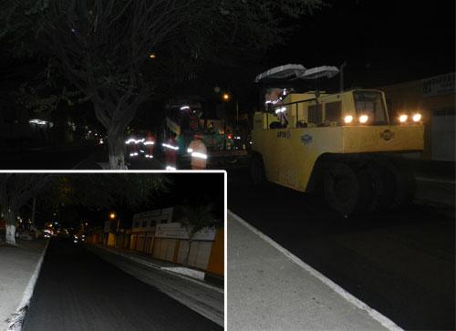 Avenida Centenário recebe recapeamento asfáltico