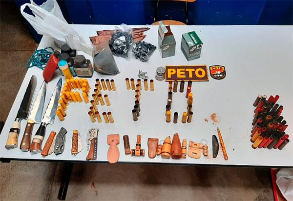 Livramento: PM apreende animais silvestres e munições