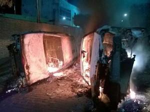 30 motos, 18 carros e delegacia são incendiados após ataques em Amargosa