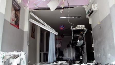 São Domingos: Criminosos explodem caixa eletrônico do Bradesco