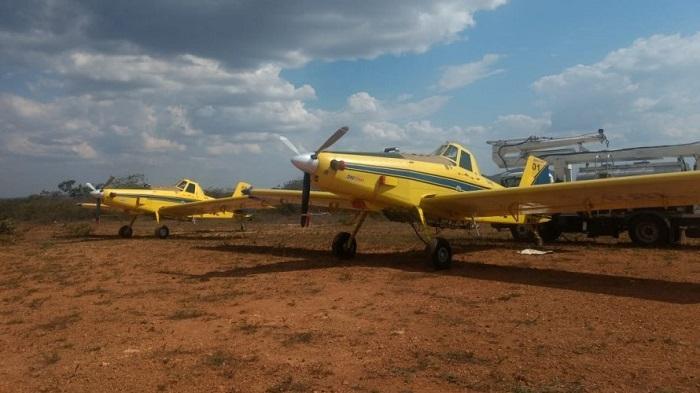 Aeronaves são disponibilizadas para suporte no combate a incêndio em Rio de Contas e Livramento