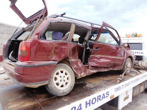 Acidente no cruzamento do Bairro Esconso com anel viário BR-030