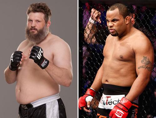 'Gordinhos' Roy Nelson e Cormier fazem 'choque de barrigas' no UFC