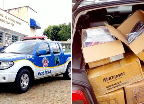 Brumadense é detido pela PRE com produtos piratas