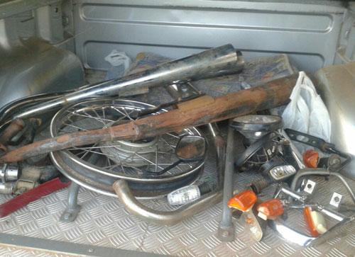 Operação 'Pente Fino' peças furtadas de carros e motos são recuperadas