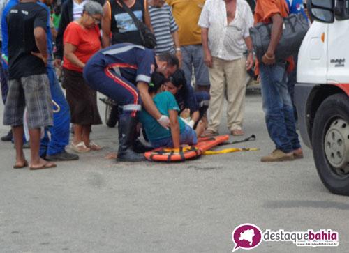 Motociclista atropela idosa na Mourão Guimarães
