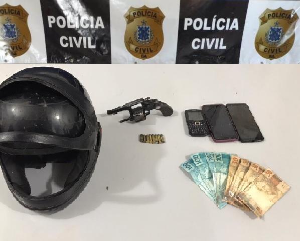 Polícia Civil apreende arma de fogo e objetos roubados na zona rural de Livramento