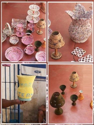 Detentos mostram criatividade confeccionando artigos artesanais