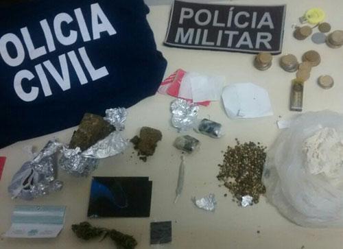 Polícia Civil e Militar prende um dos principais traficante que atuava na cidade
