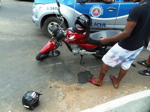 Acidente no centro da cidade deixa uma pessoa ferida