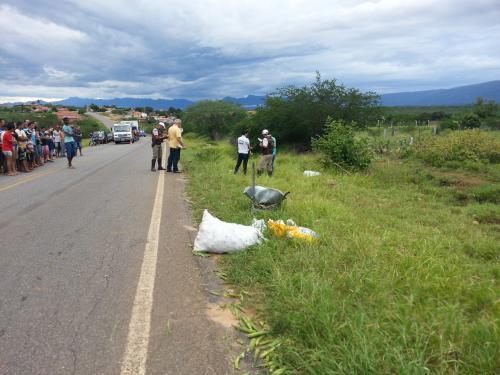 Lavrador morre após ser atropelado na BA - 148, próximo a Fazendinha