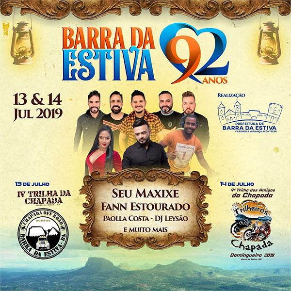 Aniversário de Barra da Estiva será comemorado com Shows e evento Off Road; confira a programação