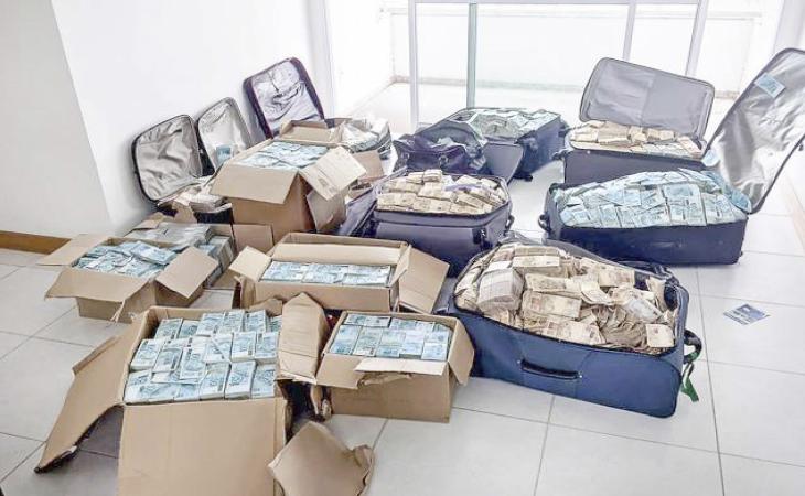 PF entrega ao STF malas com R$ 51 milhões achados em bunker atribuído a Geddel
