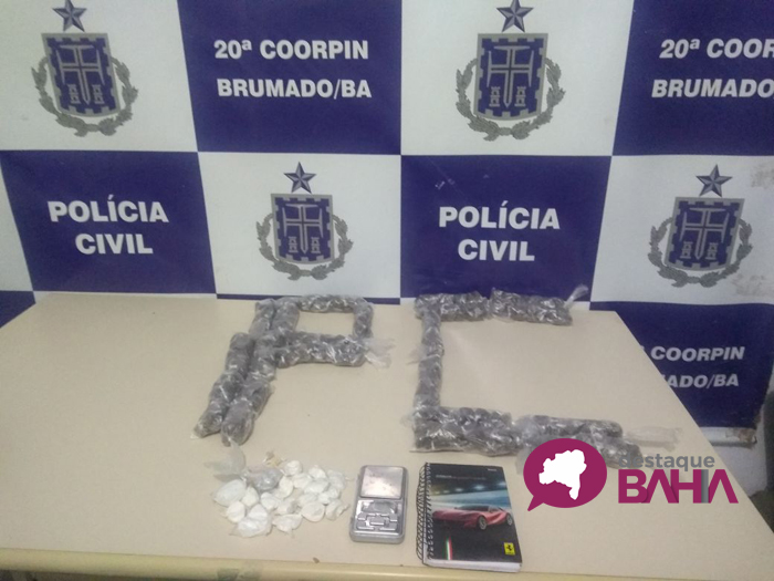Ação da Polícia Civil de Brumado resulta em apreensão de drogas e prisão de duas pessoas