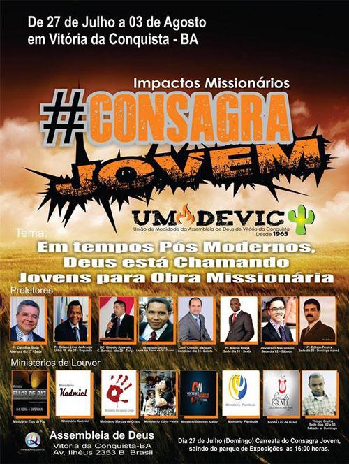 Consagra Jovem na Assembleia de Deus