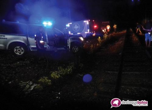 Homem morre após sentar-se em linha férrea