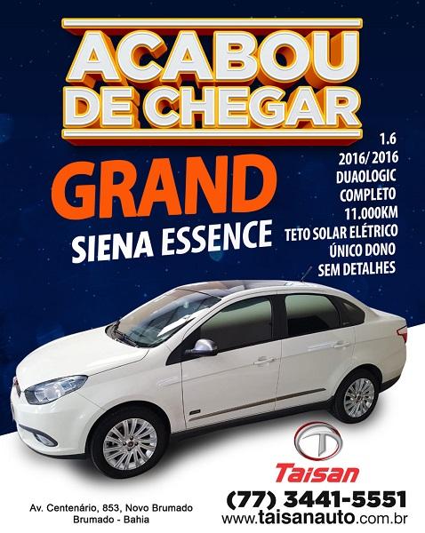 Acaba de chegar novidade na Taisan Auto, é o Grand Siena Essence