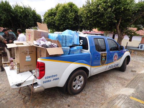 Polícia Rodoviária Estadual apreende produtos contrabandeados do Paraguai