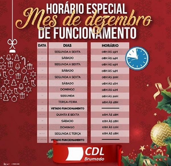 Comércio em Brumado tem horário especial no mês de dezembro; confira