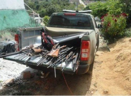 Eunápolis: Companhia Independente de Polícia de Proteção Ambiental apreende 56 armas de fogo