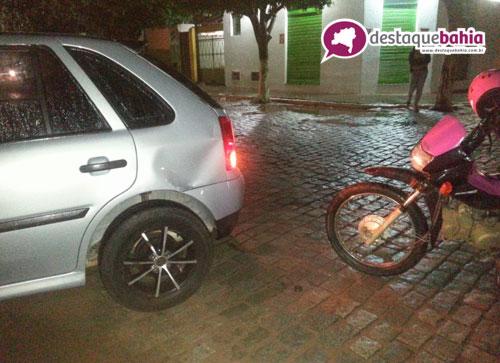 Menor de idade se envolve em acidente no centro da cidade