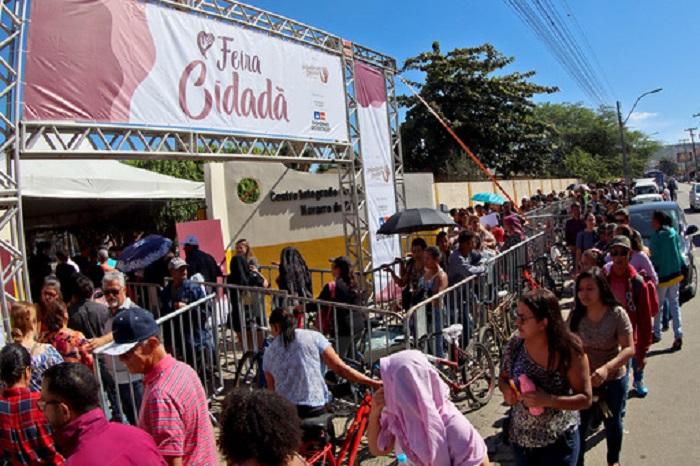 Feira Cidadã atende 15 mil pessoas em Vitória da Conquista nesta quarta-feira (31)