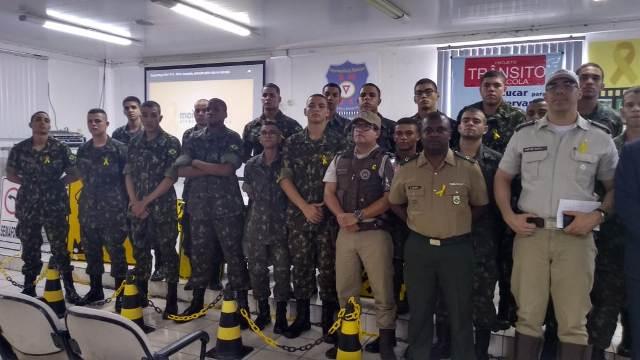 Tiro de Guerra de Brumado participa de lançamento da Campanha Maio Amarelo