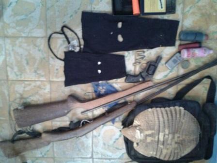 Armas são apreendidas em ação conjunta das policias Civil e Militar