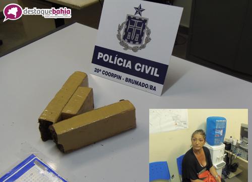 Drogas que seriam levadas para Paramirim são apreendidas em Brumado.
