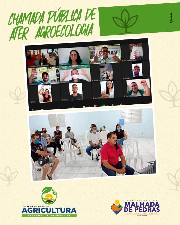 Malhada de Pedras: Reunião virtual apresenta Chamada Pública Ater Agroecologia