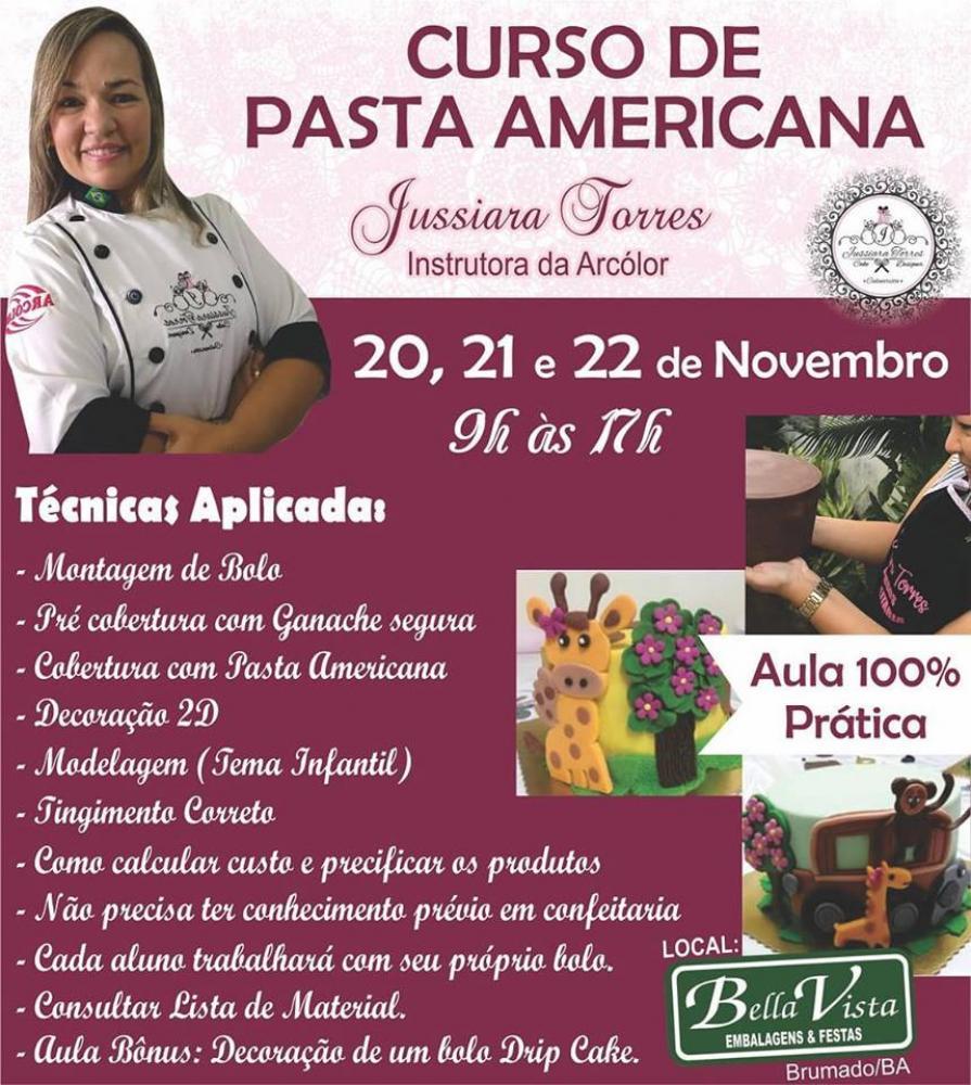 Bella Vista Promoverá curso de Pasta Americana com a instrutora Jussiara Torres