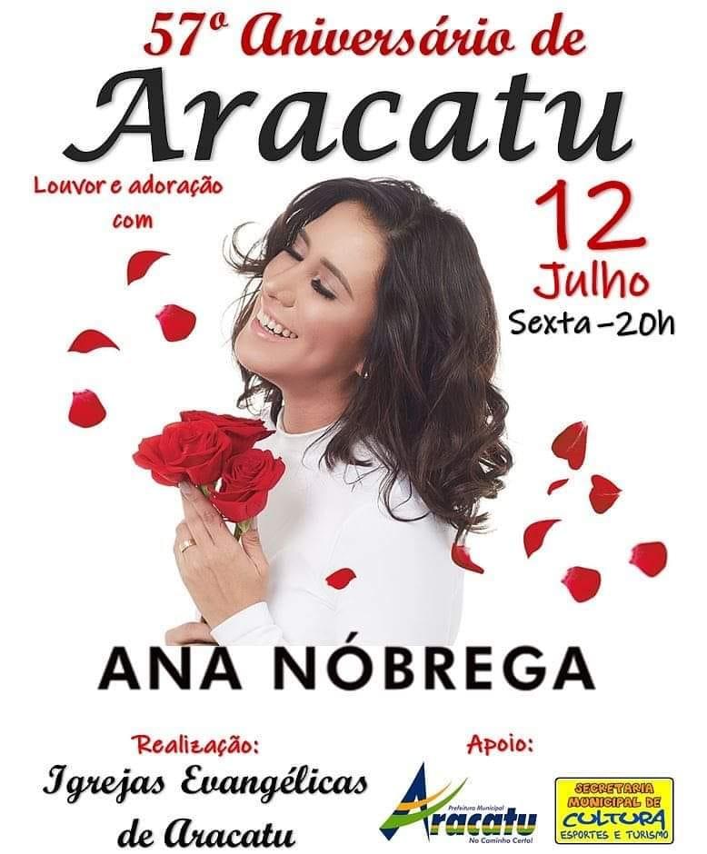 Aniversário de 57 anos de Emancipação política de Aracatu será comemorado com show Gospel