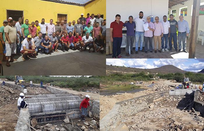 A união faz a força: Amigos do Areião e Prefeitura de Mirante viabilizam passagem molhada sobre o Rio de Contas