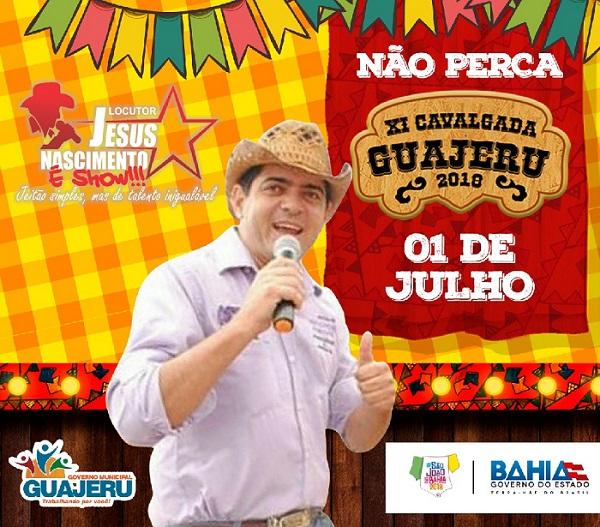XI Cavalgada de Guajeru acontece dia 01 de julho, na programação dos festejos de São Pedro