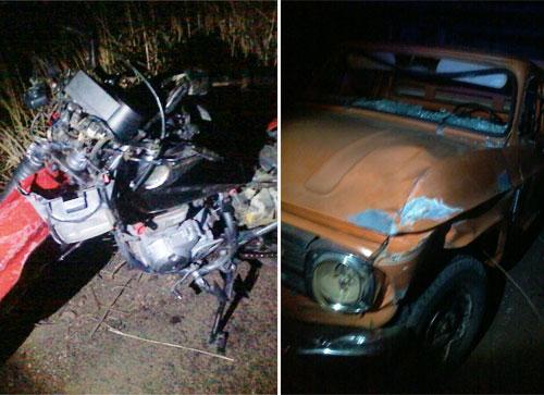 Motociclista morre após colisão com caminhonete C-10